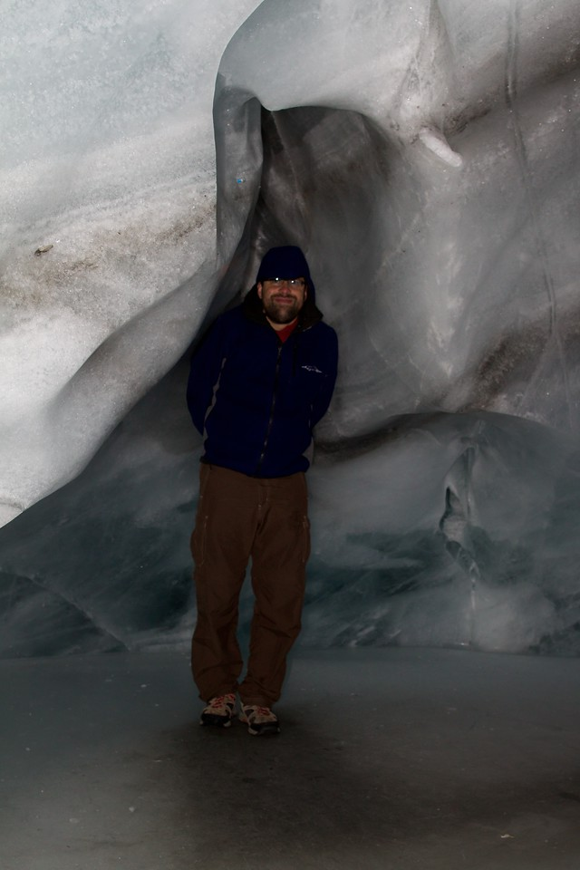 Ted in the ice cave