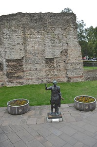 Roman London Wall (bottom part-Roman, upper part-Medieval)