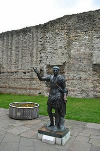 Roman London Wall (bottom part-Roman, upper part-Medieval)