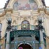 Entrance to the Obecni Dum (Municipal House), Prague