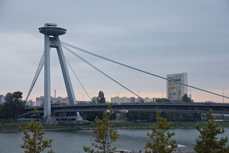 Novy Most (New Bridge) on the River Danube, Bratislava, Slovakie