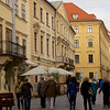 Walking Toward St. Michael's Gate, Bratislava