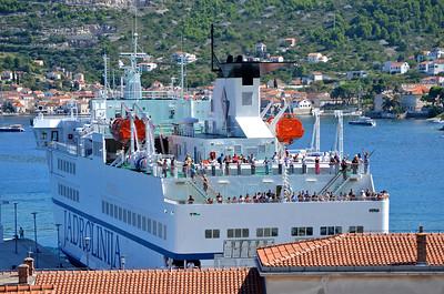 Arriving ferry, from Split