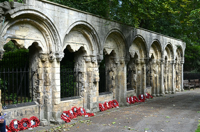 Ruins of Abbey of St Mary - Benedictine abbey in York, England