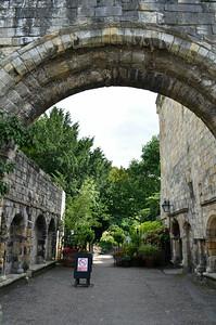 Entering York Museum Gardens
