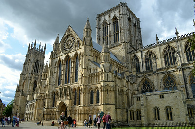 York Minster-so HUGE there was no vantage point to capture the entire bldg