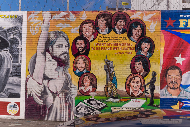 "The ""Peace Wall"" in Belfast"