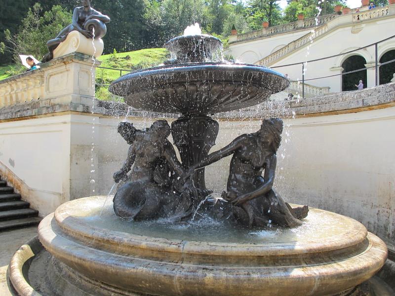 Schloss Linderhof (Linderhof Palace) grounds, Ettal, Germany. Built for King Ludwig II, King of Bavaria.