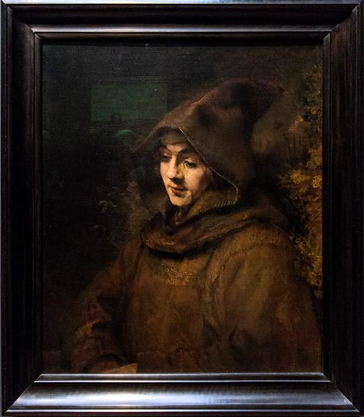 Rembrandt's son, Titus, in a monk's habit, 1660.