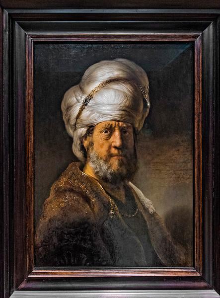 """""""Man in Oriental Dress,"""" Rembrandt, 1635."""
