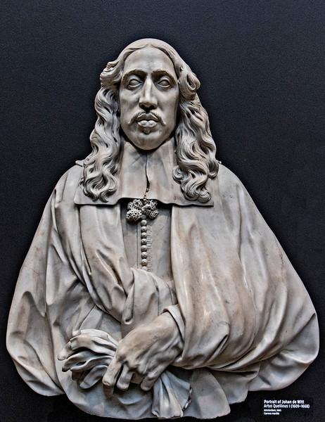"""Portrait of Johan de Witt,"" A. Quellinus, 1665. (Carrara marble)"