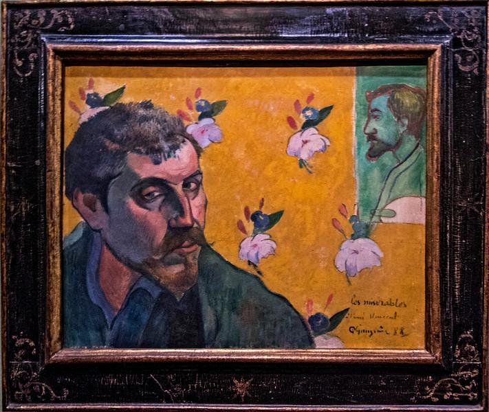 """""""Paul Gauguin self-portrait (les Miserables),""""  Paul Gauguin, 1888."""