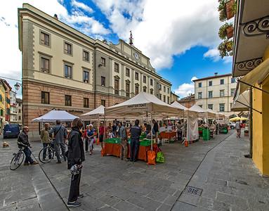 Umbertide's farmers' market.