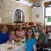 Enjoying lunch at Pende Phi, Greecian restaurant