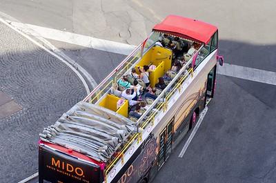 Open top bus in Rome
