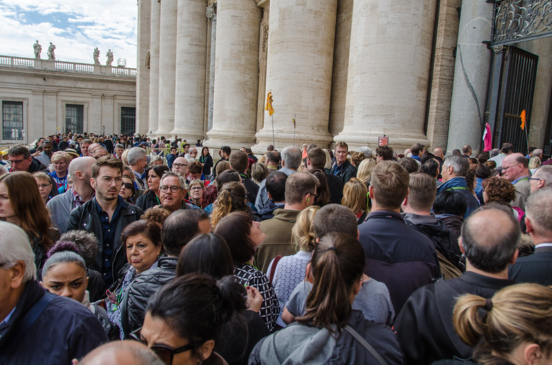 Crowding into the Basilica