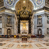 The baldacchino, apse and transepts