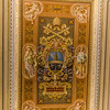 Pope Leo XIII coat of arms in the ceiling in the Gallery of the Candelabra