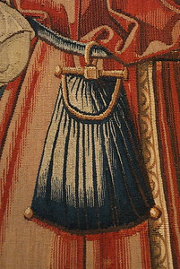 Pouch close up - Wall hanging of the liberal arts (arithmatic) ~1520