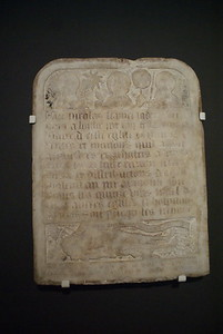 Epitaph of Nicolas Flamel (1418)