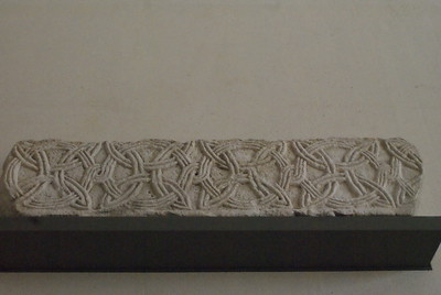 Fragment of frieze with interlace decorations