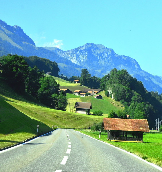 on the way to Gstaad