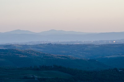 Tuscan sunset with Siena