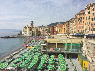 Camogli beach umbrellas