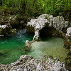 Water Flowing over Limestone, Slovenia