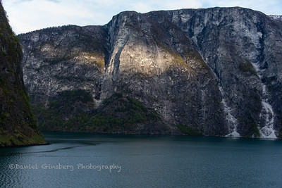 On the Aurlandsfjord in Norway