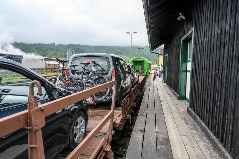 Loading Bikes for Train through Tunnels