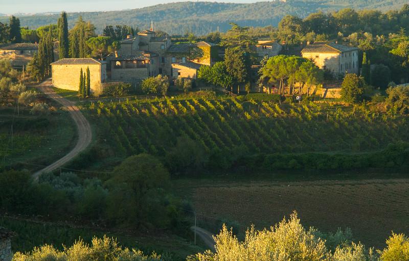 Hill top village, Chianti, Italy