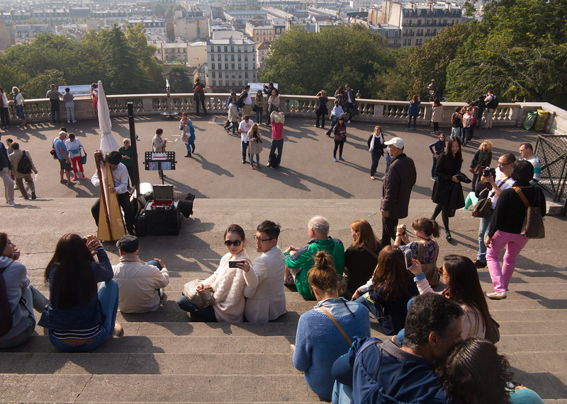 View from Montmartre Hill, Paris, France.