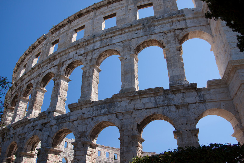 The Coliseum in Pula is the only one that has all four corner towers.