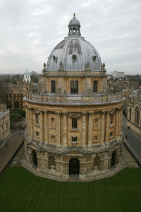 The Radcliffe Camera, seen from the tower of the University Church of St. Mary the Virgin, Oxford