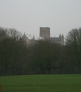 St. Alban's Cathedral, from Verulamium Park