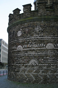 The Römerturm, a 2nd-3rd century tower from the original wall around Roman Köln.