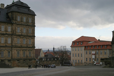 The Residenz (at left) and the Domplatz, Bamberg