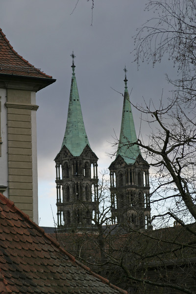 The towers of the Dom, Bamberg