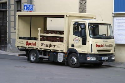 "Possibly the only place in the world where one can see a Rauchbier (""smokebeer"") delivery truck"