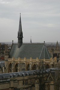 Exeter College Chapel, seen from the tower of the University Church of St. Mary the Virgin, Oxford
