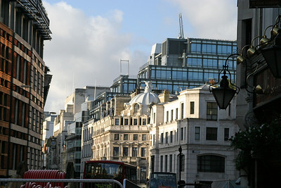 Looking down Ludgate Hill in the City of London.
