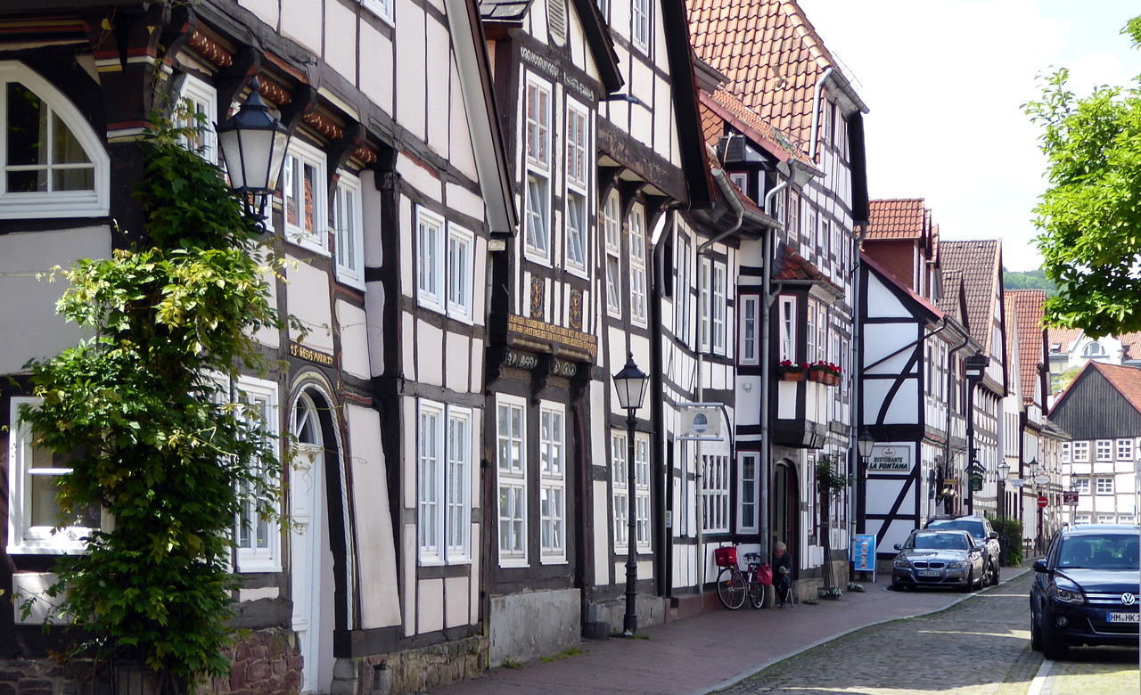 Hameln (or Hamelin), Germany. Town of the Pied Piper, a Brothers Grimm story.
