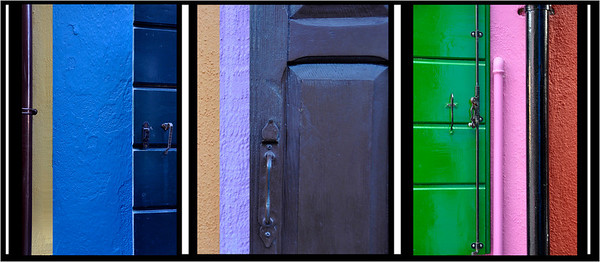 Colors of Burano, windows & shutters & house ...