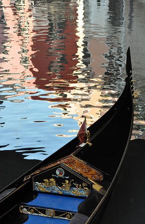 Gondola with reflections