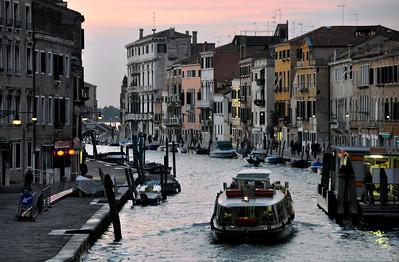Venice evening view from a bridge