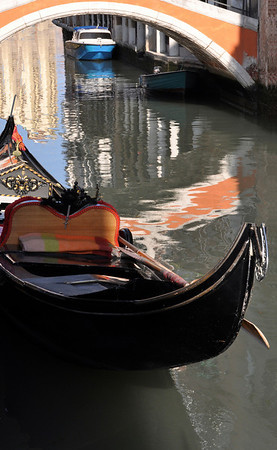 Venice gondola - orange three times