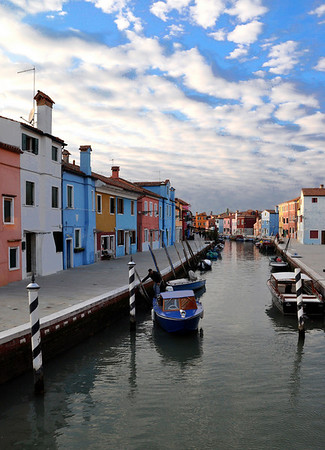 Burano with fleeting clouds