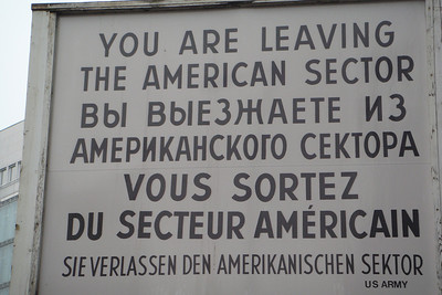 Checkpoint Charlie sign in Berlin.
