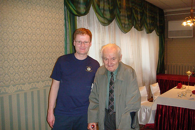 Michal and his grandfather after a very big lunch.